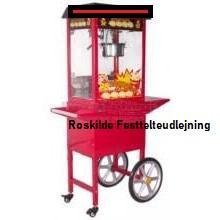 Popcornsmaskine med vogn
